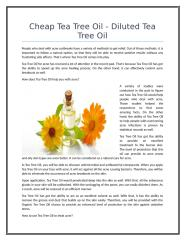 Cheap Tea Tree Oil - Diluted Tea Tree Oil.doc