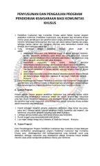 PENYUSUNAN DAN PENGAJUAN PROGRAM PENDIDIKAN KEAKSARAAN BAGI KOMUNITAS KHUSUS.pdf