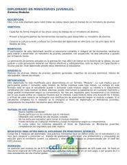 Diplomado en Ministerios Juveniles - Modular.doc