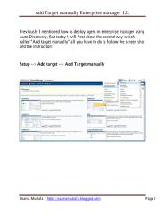 add target manually em12c.pdf