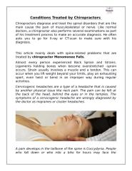 Conditions Treated by Chiropractors .docx