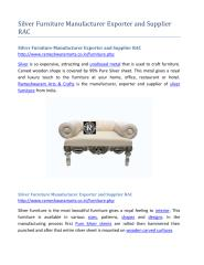 Silver Furniture Manufacturer Exporter and Supplier RAC.pdf
