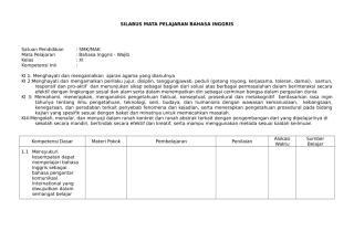 SILABUS BAHASA INGGRIS SMK XI.doc