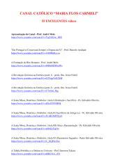 55 Excelentes Vídeos Católicos - Canal 'Maria Flos Carmeli'.pdf