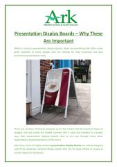 Presentation Display Boards – Why These Are Important.pdf
