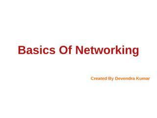 Basics Of Networking and routing.ppt