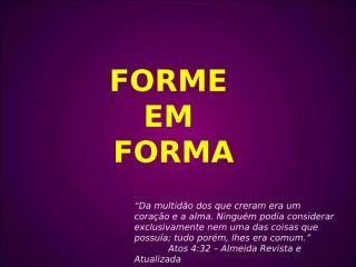 FORME EM FORMA - MINISÉRIOS_3.ppt
