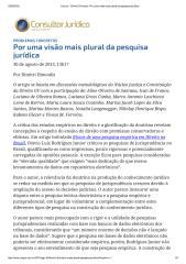 ConJur - Dimitri Dimoulis_ Por uma visão mais plural da pesquisa jurÃ-dica (1).pdf