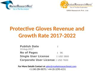 Protective Gloves Revenue and Growth Rate 2017-2022.pptx