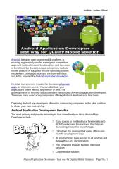 Android Application Developers – Best way for Quality Mobile Solution.pdf