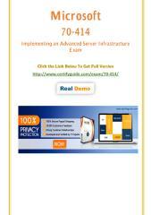 70-414 Certification Test - Quality Training kits.pdf