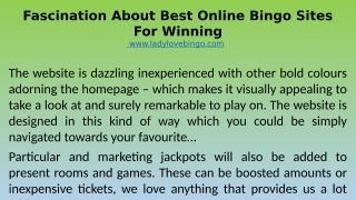 Fascination About Best Online Bingo Sites For Winning.pptx