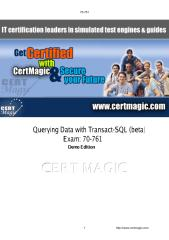 70-761-Q&A-Demo-CertMagic.pdf