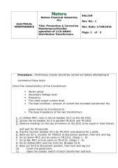 SOP on Transformer maintenance _ Rev 1.docx