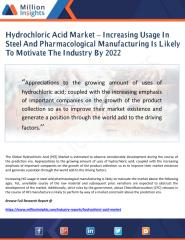 Hydrochloric Acid Market – Increasing Usage In Steel And Pharmacological Manufacturing Is Likely To Motivate The Industry By 2022.pdf