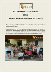 BEST   TRANSPORTATION  SERVICE   FROM   CANCUN   AIRPORT TO RIVIERA MAYA HOTEL.pdf