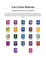 las letras hebreas - el significado mistico de las letras hebreas.pdf