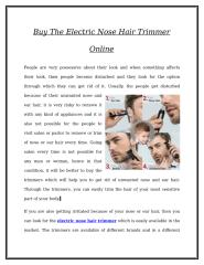 Buy The Electric Nose Hair Trimmer Online.doc