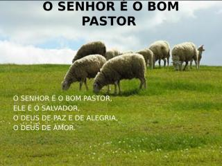 O SENHOR É MEU BOM PASTOR.ppt