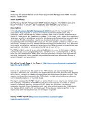 US Pharmacy Benefit Management (PBM) Industry Report_ 2014 Edition.pdf
