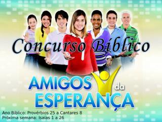 Concurso Bíblico 2011 - 29.ppt