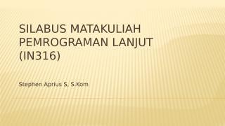 Silabus Pemrograman Lanjut.pptx