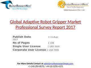 Global Adaptive Robot Gripper Market Professional Survey Report 2017.pptx