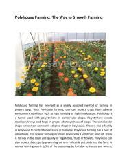 Polyhouse Farming The Way to Smooth Farming.pdf